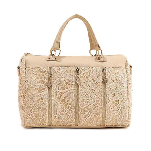 Zehui Damen Baguette Schultertasche Handtasche (Khaki)