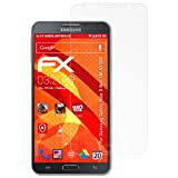 atFolix Panzerschutzfolie für Samsung Galaxy Note 3 Neo (SM-N7505) Panzerfolie - 3 x FX-Shock-Antireflex blendfreie stoßabsorbierende Displayschutzfolie