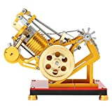 FLAMEER Heißluft Stirlingmotor Modell / Bausatz für Prinzip der Motor Funktionieren zum Zeigen