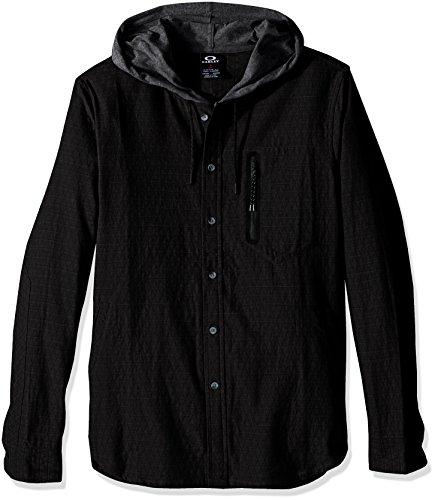 OAKLEY HONCHO WOVEN HOODIE JET BLACK CAMICIA FW (Oakley Woven Shirt)