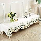 CWJ Nappe de Table-Nappe de Coton et de Lin Nappe de Table Nappe de Table de Style européen Nappe Pastorale en Tissu,B, 90x230cm (35x91 Pouces)