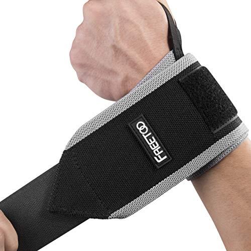 FREETOO Handgelenkstütze Verstellbare Handbandage Handgelenkschoner zur wirkungsvollen Unterstützung und Entlastung Wrist Wraps für Alltag Fitness und Kraftsport beide Hände gültig (Pink)