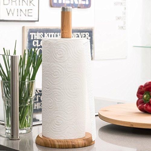 Küchenpapierhalter Bambus 32cm