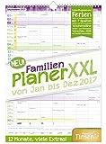 FamilienPlaner XXL 2017 Wand-Kalender, Chäff-Timer, 7 Spalten, 34 x 48,5cm, 12 Monate Jan - Dez 2017