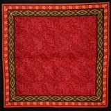 Calico Print Cotton Table Napkin 18 x 18 Red by Homestead