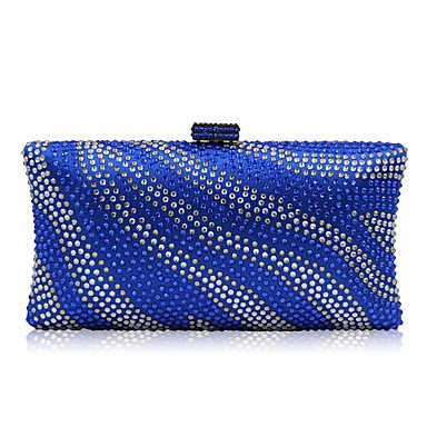 Frauen Abend Beutel Polyester Nylon All Seasons formale Casual Event/Party Hochzeit Minaudiere Crystal/Handtasche Kupplung mehr Farben, Blau (Minaudiere Crystal)