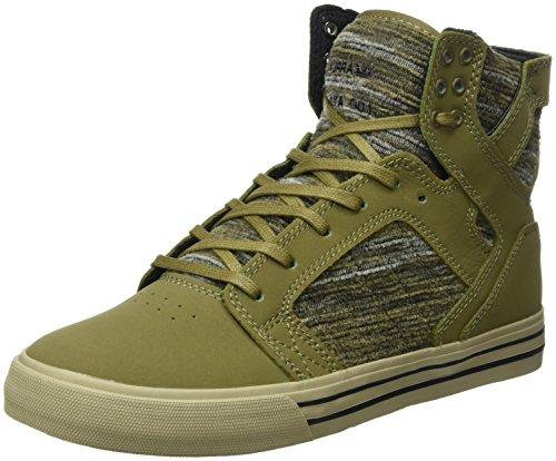 Supra Herren Skytop Sneaker, Grün (Olive Multi-Sage), 40.5 EU (Sneakers Skytop Supra)