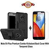Like It Grab It Moto E4 Plus Orginal Kickstand (Dragon Shade) Back Cover With Premium 2.5D Curved Tempered Glass Combo Offer For Moto E4 Plus (Kickstand Combo) (Black - Transparent)