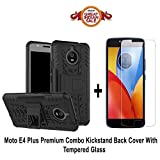 #9: Like It Grab It Moto E4 Plus Orginal Kickstand (Dragon Shade) Back cover With Premium 2.5D Curved Tempered Glass Combo offer for Moto E4 Plus (Kickstand Combo) (Black - Transparent)