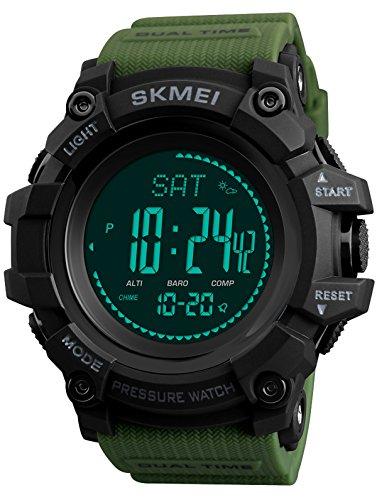 Skmei Kompass Schrittzähler Thermometer Wettervorhersage Barometer Altimeter Höhenmesser Digital Armbanduhr Quarzuhr Outdoor Sportuhren