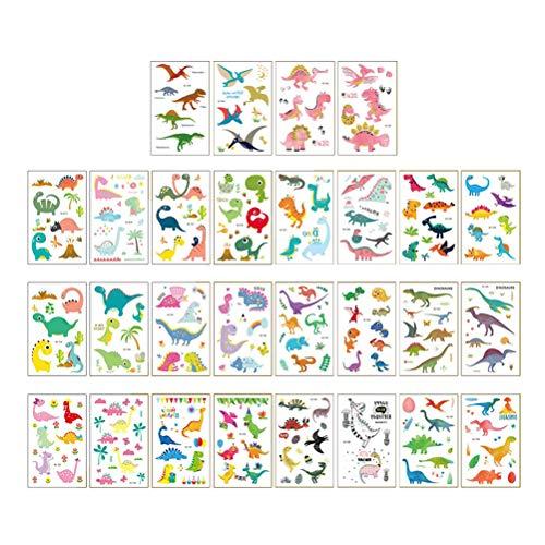 Toyvian Temporäre Tätowierungsaufkleber für Kinder Dinosaurier Tätowierungsaufkleber,28-Blätter - Billige Tätowierungs-tinte