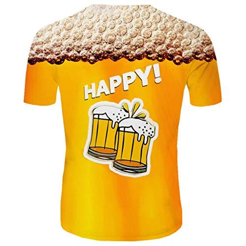 Setsail Herren Modisches T-Shirt New Summer T-Shirt mit Rundhalsausschnitt Kurzarm Blue Flame 3D Printed Top -