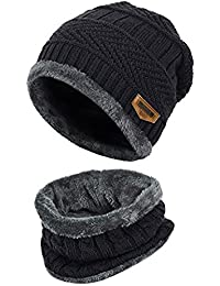 Handcuffs Pure Woolen Skull Cap with Muffler/Beanie - Unisex - Winter Cap