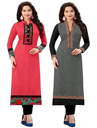 Combo Kurti Pack Of 2 Cotton Fabric Latest New Fancy Kurti Different...