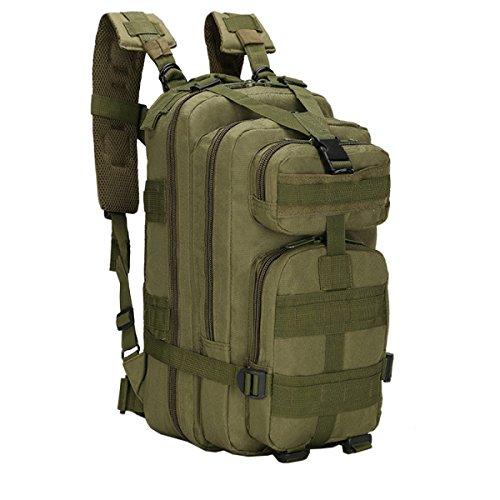 Yy.f Militärische Taktik Rucksack Angreifen 3 Tage Taschen Rucksäcke Outdoor-Reisen Jagen Camping Wandern Schießen. Multicolor Green