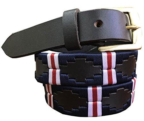 CARLOS DIAZ Jungen Mädchen Kids Kinder Unisex Argentinischen Braun Leder Bestickte Polo Gürtel (70 cm/26-28 Inches) (Mädchen Gaucho)