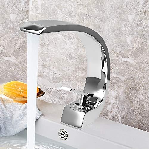 Waschtischarmatur Badarmatur Wasserhahn Waschbeckenarmatur Bad Armatur Spültischarmatur Chrom für Badezimmer Waschbecken Einhebel-Waschtischmischer