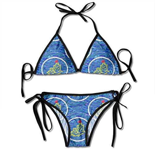 3ebda2423b1 KLYDH I Once Built A Sandcastle Women's Sexy Push up Thong Bikini Sets  Swimwear Two Piece