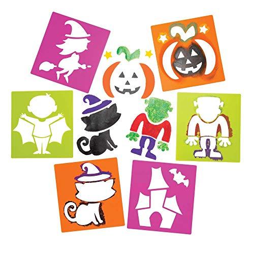 """Baker Ross Schablonen """"Halloween"""" für Kinder – für Bastelarbeiten und Dekorationen zu Halloween (6 Stück)"""