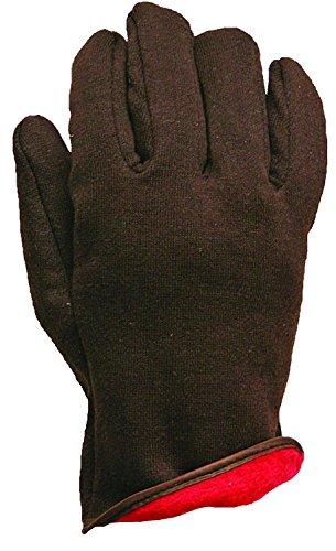 Apollo Leistung Handschuhe Arbeit Handschuh, Jersey, rot Fleece gefüttert, Ziehen Auf Stil, Braun, L, braun, 1 (Rote Jersey-handschuh Gefütterte)