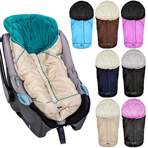 Winterfußsack Fußsack für Babyschale / Autobabyschale / Kinderwagenschale (Pink/Schwarz)