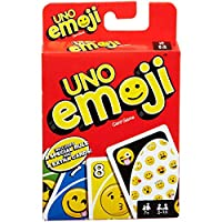 Kids Play Time UNO Emoji Edition Card Game - Age Range: 7+