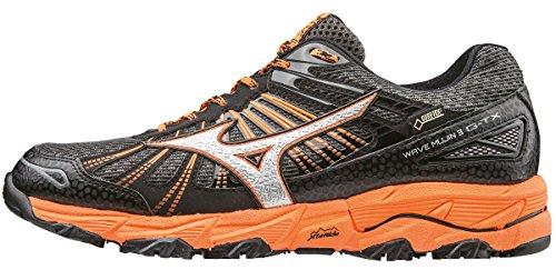 Mizuno Wave Hitogami 4 (W), Chaussures de Running Compétition Homme Noir (Dark Shadow/silver/clownfish)