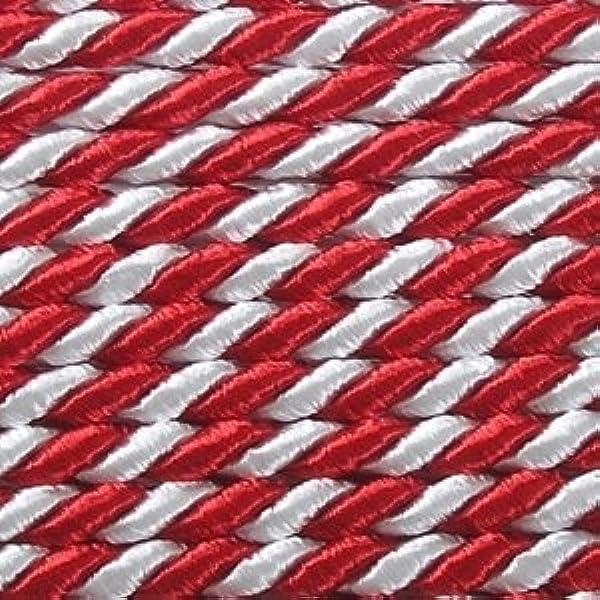 2-farbig gedreht 2mm// 50 Meter TGG Kordel rot//gr/ün ohne Draht 2-4-6mm Profispule !!!