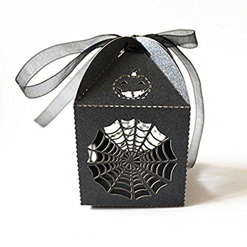 rosenice NASTRI Matrimonio Candy Box RAGNATELA Stile Halloween Divertente Partito Regalo BOMBONIERA Caramella Caso Pack 50