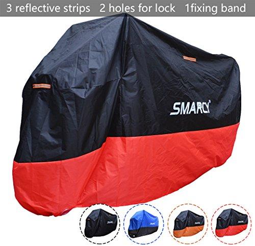 Smarcy Funda Protector para Moto, Cubierta para Moto / Motocicleta Resistente al Agua a Prueba de UV, Color Rojo / Negro XXXL