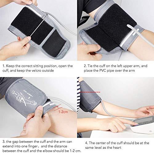 HYLOGY Misuratore Pressione da Braccio Digitale, Sfigmomanometro da Braccio Pressione Arteriosa, Grande Schermo LCD, 2 * 90 Posizioni di Memoria (grigio) (GRIGIO) - 6