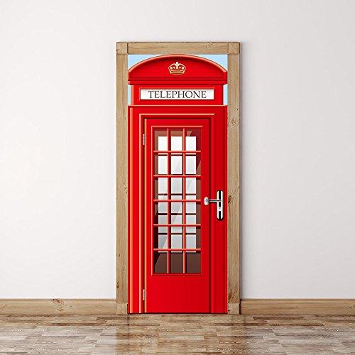 YYH PVC europeo Phone stand Porta Adesivi Ristorante portello di legno Rinnovato Camera creativo fai (Accessori Rinnovato)