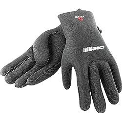 Cressi High Stretch Gloves Gants pour Plongée Adulte Unisexe, Noir/Rouge (2.5 mm), M