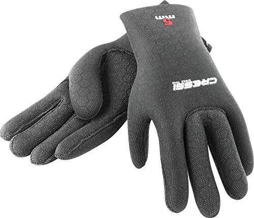 Cressi Unisex Handschuhe High Stretch, Schwarz, M, LX475702