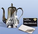 Acquista WENKO 8035004500 Diamond Clean Silber-Poliertuch, Cotone, Bianco
