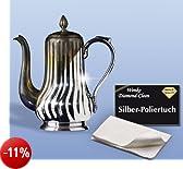 WENKO 8035004500 Diamond Clean Silber-Poliertuch, Cotone, Bianco