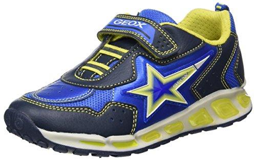 Geox J Shuttle B, Zapatillas para Niños, Azul (Navy/Lime), 38 EU