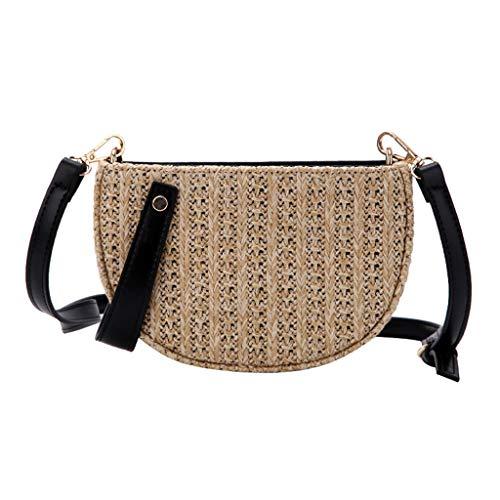 OIKAY Mode Damen Tasche Handtasche Schultertasche Umhängetasche Mode Neue Handtasche Frauen Umhängetasche Schultertasche Strand Elegant Tasche Mädchen 0605@054
