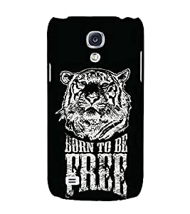 Fiobs Designer Back Case Cover for Samsung Galaxy S4 I9500 :: Samsung I9500 Galaxy S4 :: Samsung I9505 Galaxy S4 :: Samsung Galaxy S4 Value Edition I9515 I9505G (Tiger Face Art Theme)