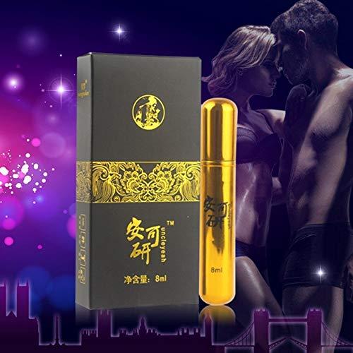 serliy Männliches Verzögerungs-Spray-Gold-lange Verzögerungs-Ejakulations-Vergrößerungs-Sex-Produkte 8ML (Männliche Körper-spray)