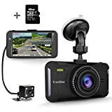 "Trochilus Dual Dash Cam 4"" 1080P Front and Rear Dash Cams, 170 Degree Wide Angle Car Camera with G-Sensor,WDR,Loop Recording,Parking Monitor,Motion Detection,32GB SD Card including"