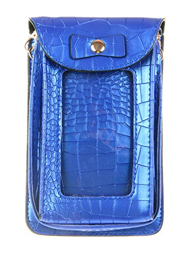 kiss-goldtm-faux-leahter-crocodile-skin-crossbody-single-shoulder-bag-cellphone-pouch-blue
