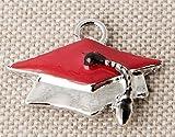 STOCK 12 PEZZI Cappello Tocco Laurea in metallo Ciondolo Applicazione decorazione per BOMBONIERA