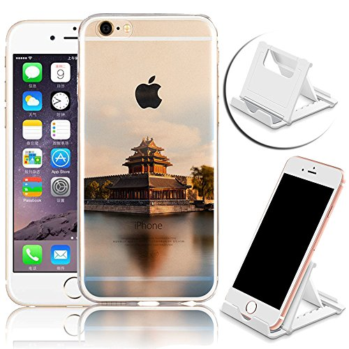 iPhone 6 Hülle, iPhone 6S Hülle, Vandot Crystal Case Schutzhülle für iPhone 6 / 6S 4,7 Zoll Klare Ultradünne TPU Silikon Handyhülle Durchsichtig Diamant Bling Glitzer Transparent Blumen Pflaumenblüte  Color 15