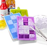 Best Ice Cube Trays With Covers - 3 Packs Ice Cube Tray Silicone Ice Trays Review