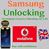 Unlocking Code for SAMSUNG GALAXY S7 S8 S9, S9 PLUS, S6 S5 A3 A5 J3 J5 Note Edge Mobile Phones. For UK VODAFONE ONLY