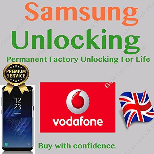 Entriegelung Code für Samsung Galaxy S7S8S9, S9Plus, S6S5A3A5J3J5Note Edge Handys. Für UK Vodafone nur