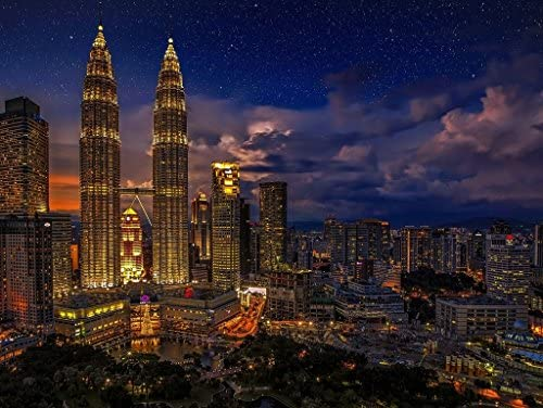 Te  er un voeu Lais Puzzle Kuala Lumpur Lumpur Lumpur 1000 Pieces a39efe