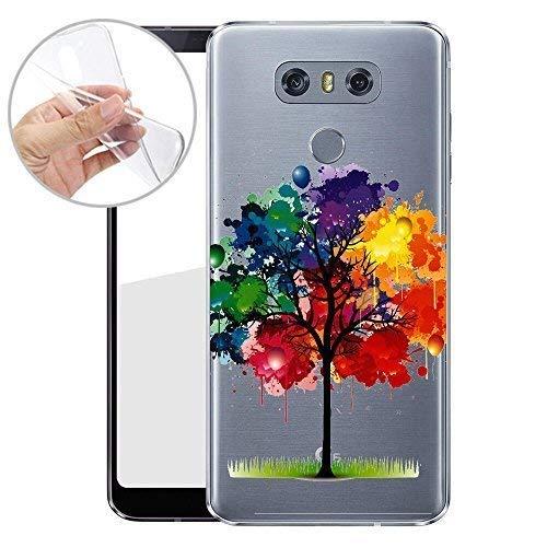 Finoo TPU Handyhülle für Dein LG G6 Made In Germany Hülle mit Motiv und Optimalen Schutz Silikon Tasche Case Cover Schutzhülle für Dein LG G6 - Bunter Baum