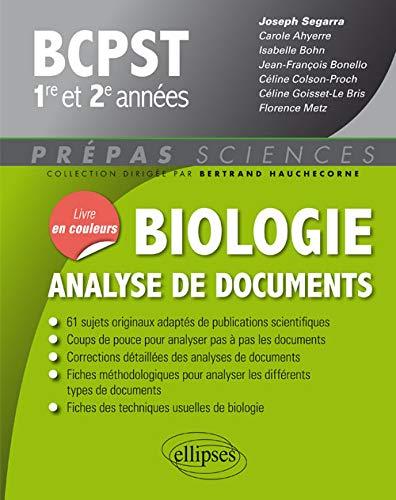 Biologie analyse de documents BCPST 1re et 2e années
